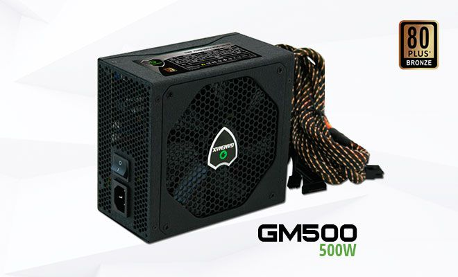Fonte GM500 Gamemax OEM PFC Ativo 80 Plus Bronze 500W