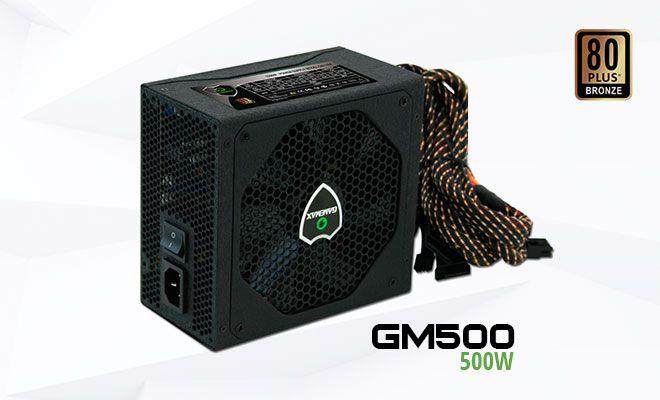 Fonte GM500 Gamemax OEM PFC Ativo 80 Plus Bronze 500W