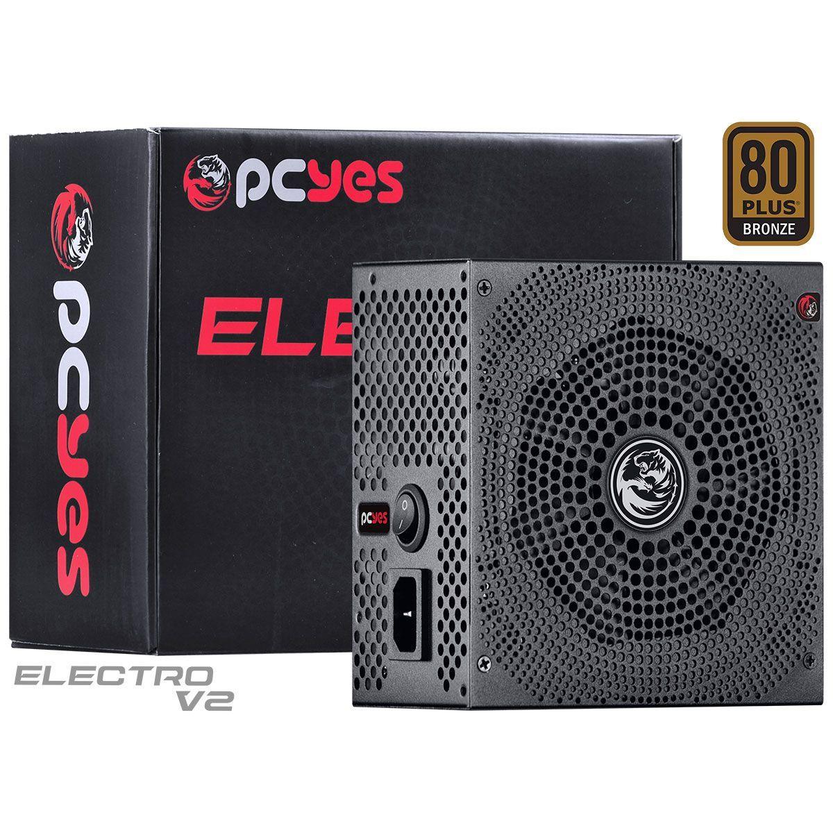 Fonte PCYes Electro V2 500w 80 Plus Bronze - ELECV2PTO500W