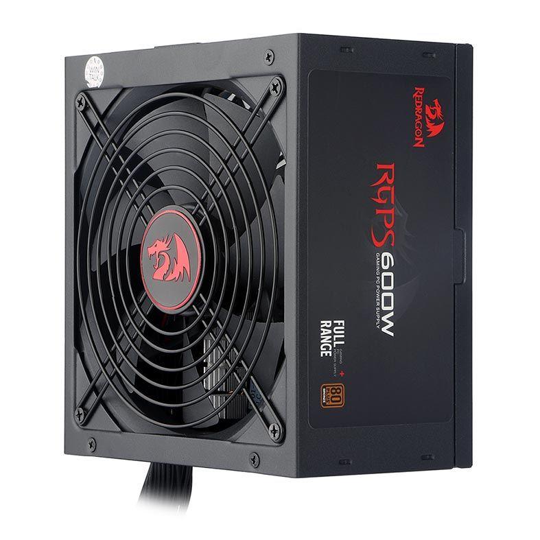 Fonte Redragon RGPS 600W 80 Plus Bronze PFC Ativo GC-PS002