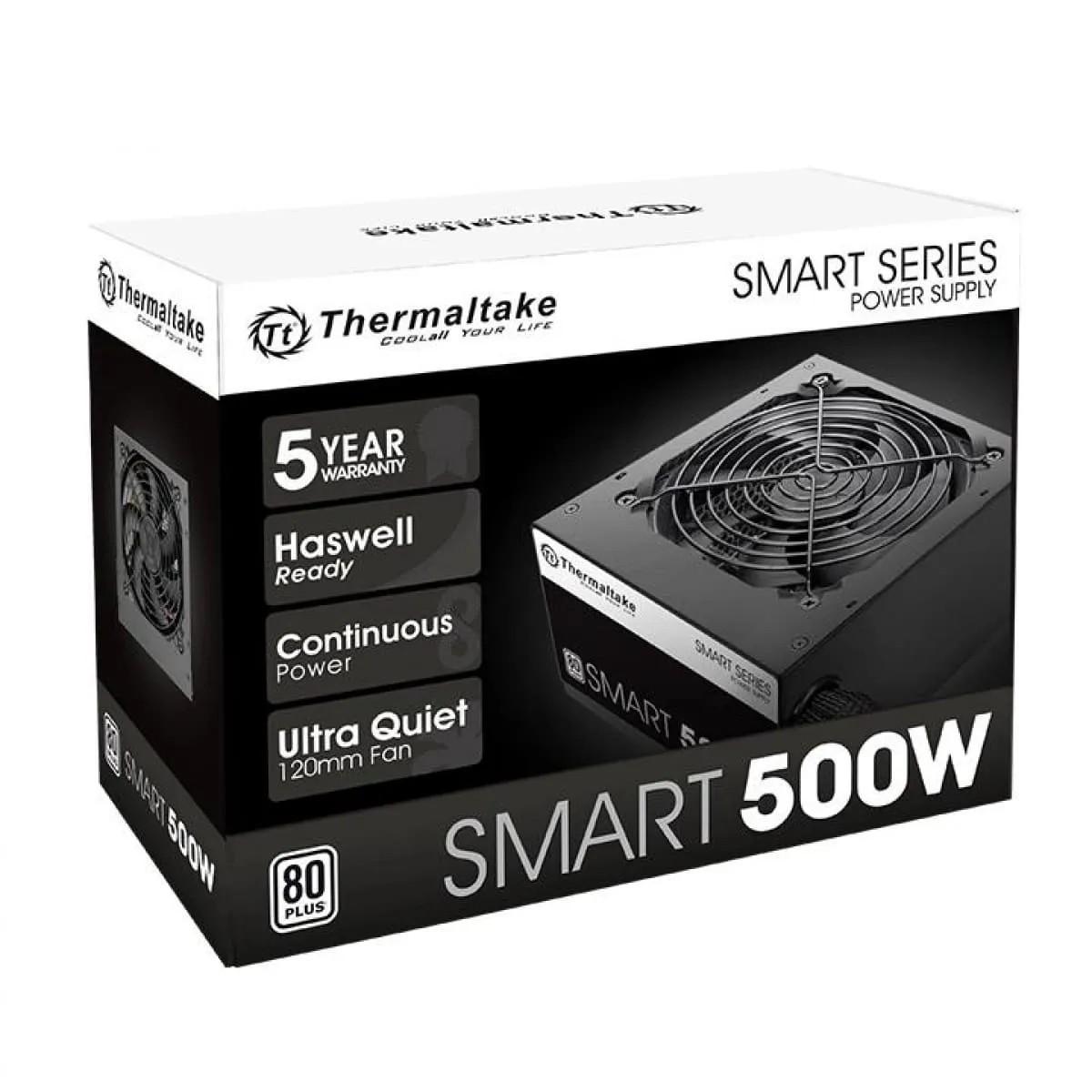 Fonte Thermaltake 500W 80 Plus White Smart Series PS-SPD-0500NPCW