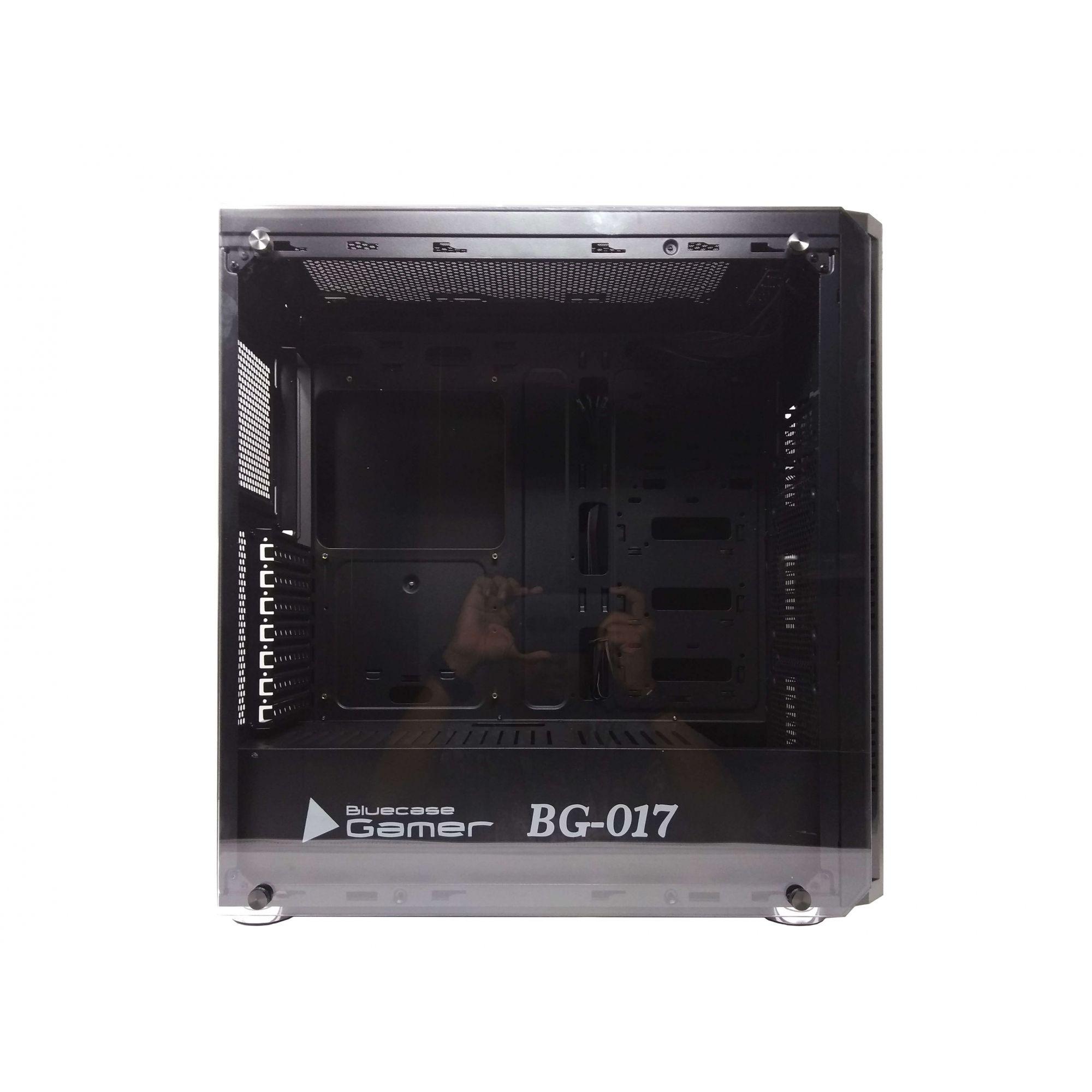 Gabinete BlueCase BG-017 USB 3.0 S/ Fonte Vidro Temperado Preto