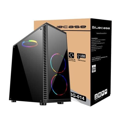Gabinete Bluecase Gamer BG 014 USB 3.0 - Lateral em acrílico