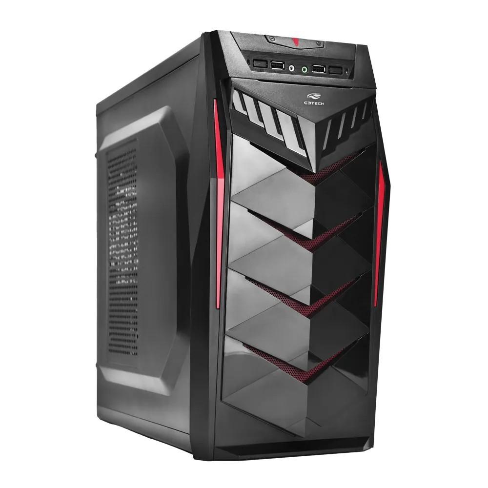 Gabinete C3Tech Gamer MT-G70BK Mid Tower S/ Fonte