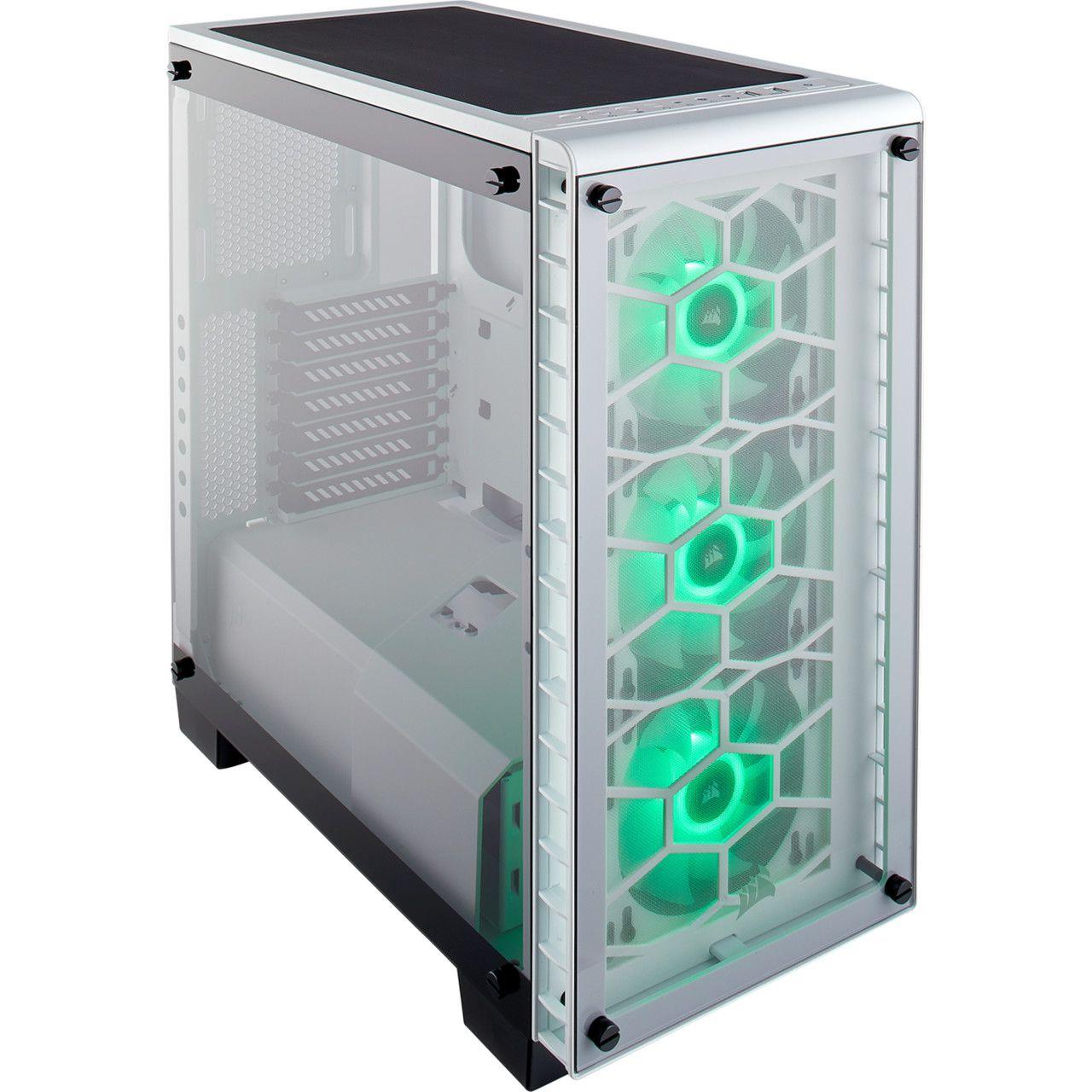 Gabinete Corsair CRYSTAL 460X RGB White ACO Branco Vidro