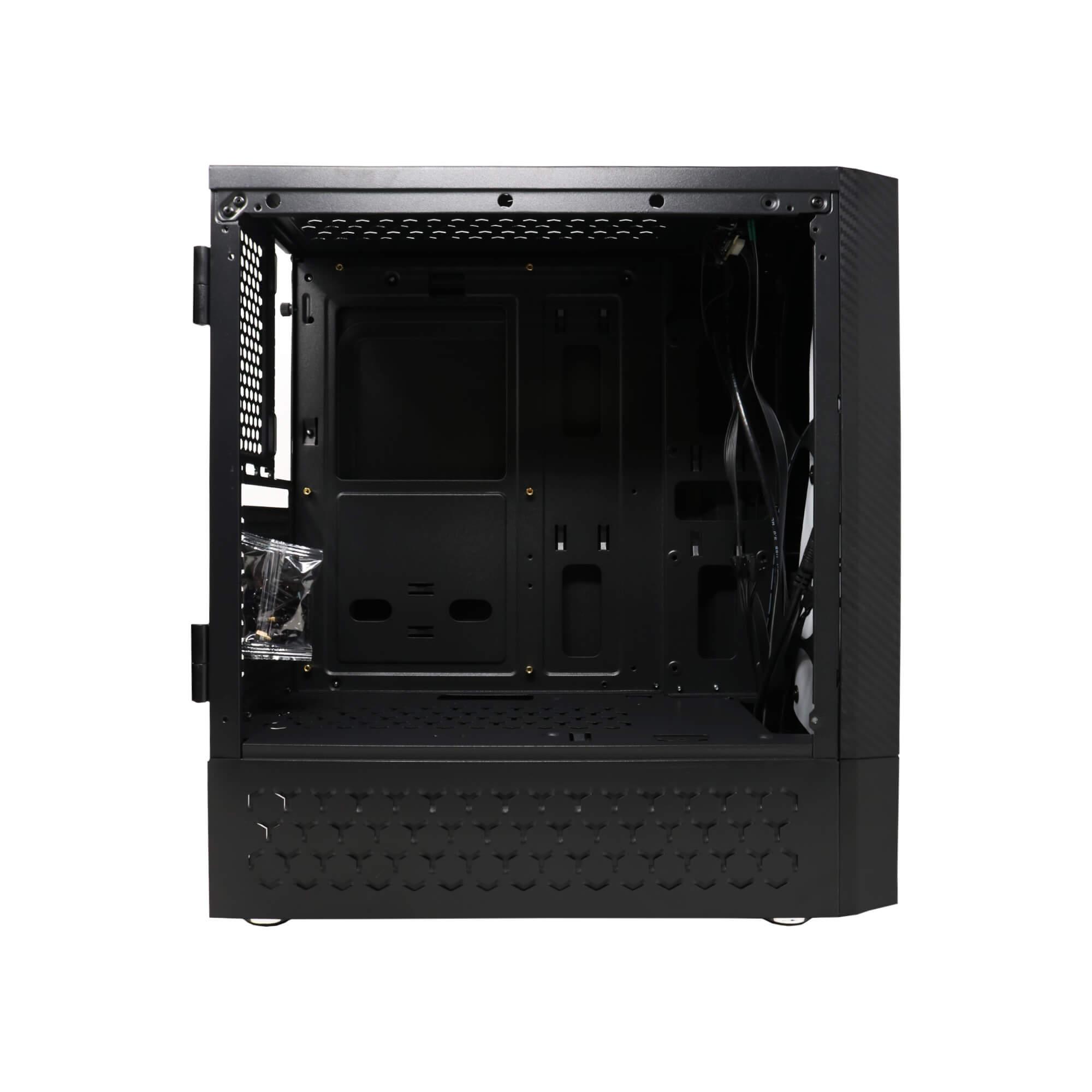 Gabinete Gamer BlueCase BG-018 RGB Preto Lateral Acrilico