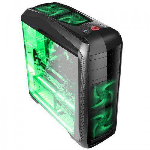Gabinete Gamer Bluecase BG-024 S/ Fonte Suporta 5 Coolers