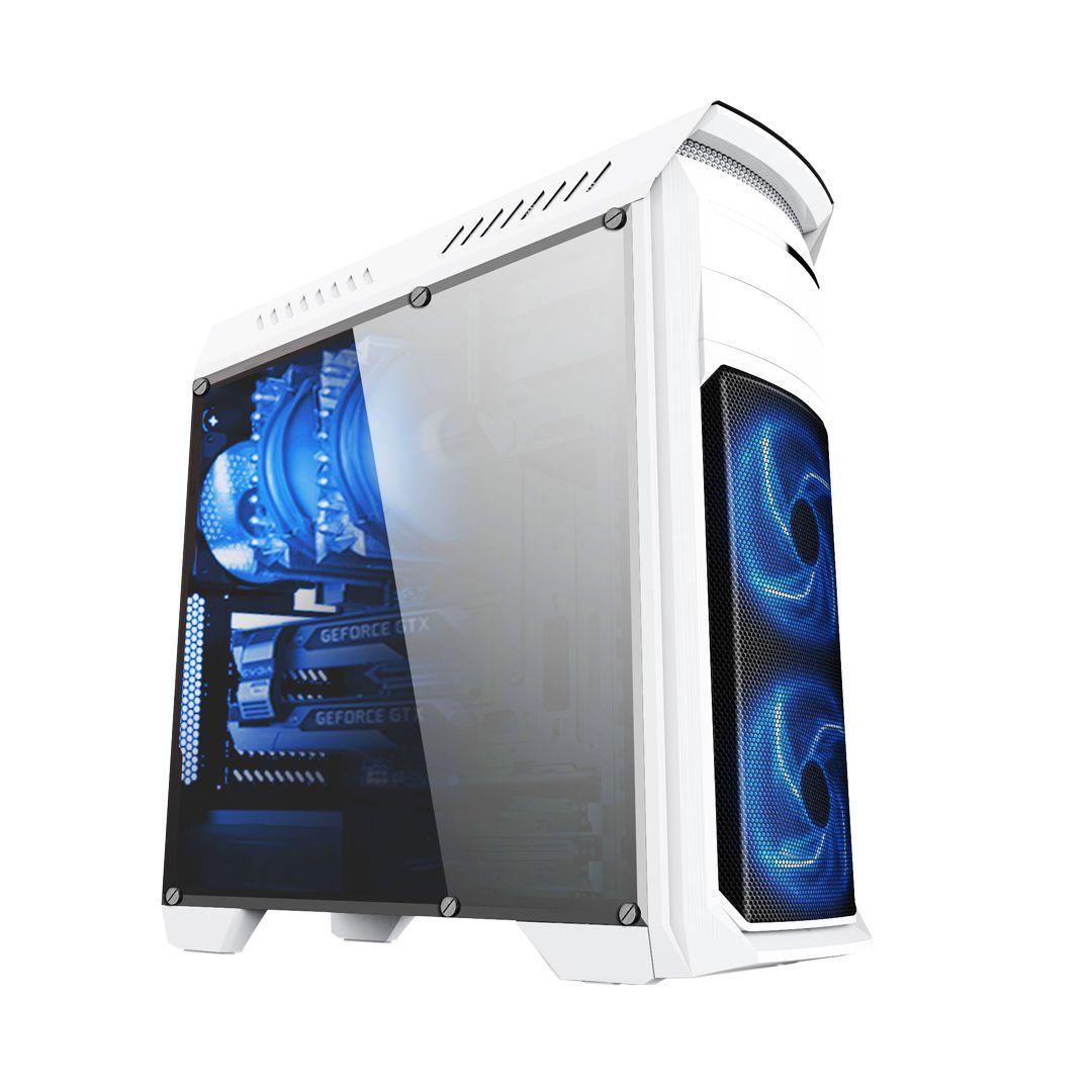 Gabinete Gamer Bluecase BG-110 sem Fonte, USB 3.0, Branco