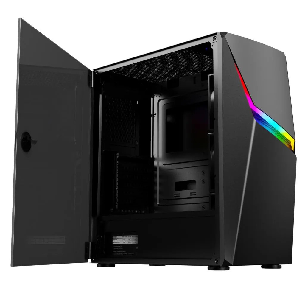Gabinete Gamer CGAX3 RGB Lateral Vidro Pixxo S/ Fonte