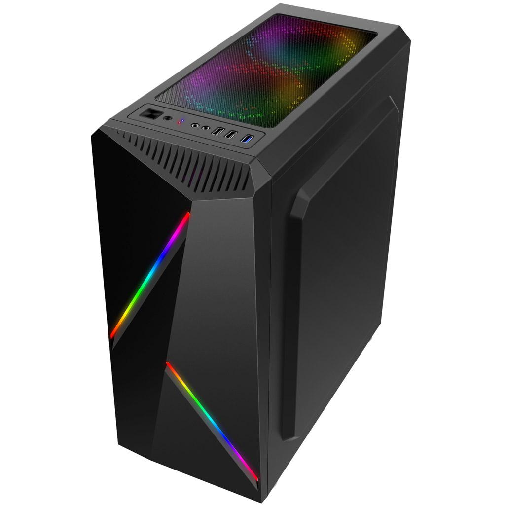 Gabinete Gamer Cronus USB 3.0 Preto sem Cooler