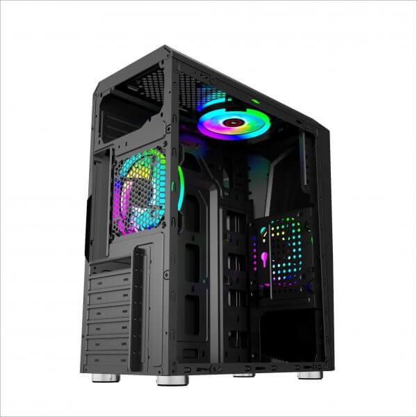 Gabinete Gamer GB1712 Hayom RGB Lateral em Vidro Mid Tower