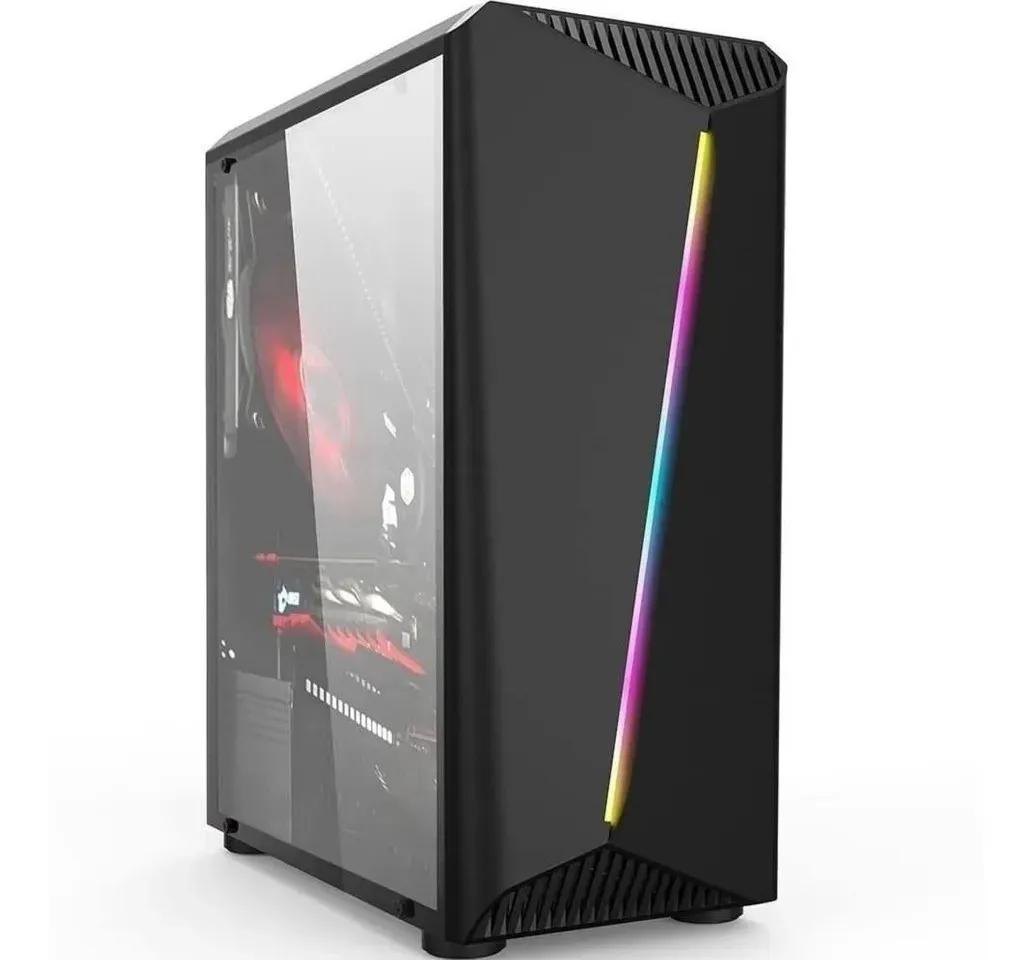 Gabinete gamer Hayom GB1700 RGB Lateral em Vidro