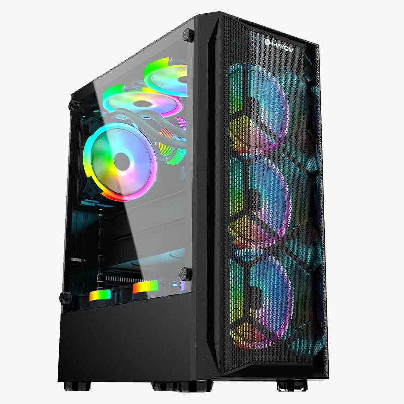 Gabinete Gamer Hayom GB1706 C/ 3 Coolers RGB S/ Fonte