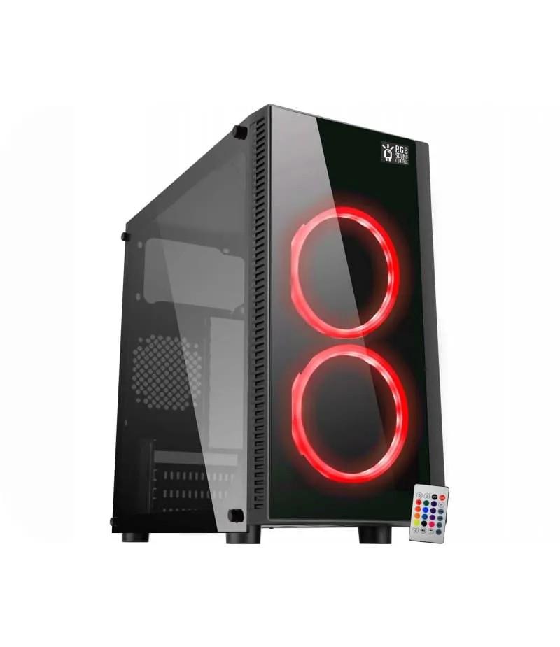 Gabinete Gamer K-Mex CG-03RA RGB Narnia 2 Fans S/ Fonte