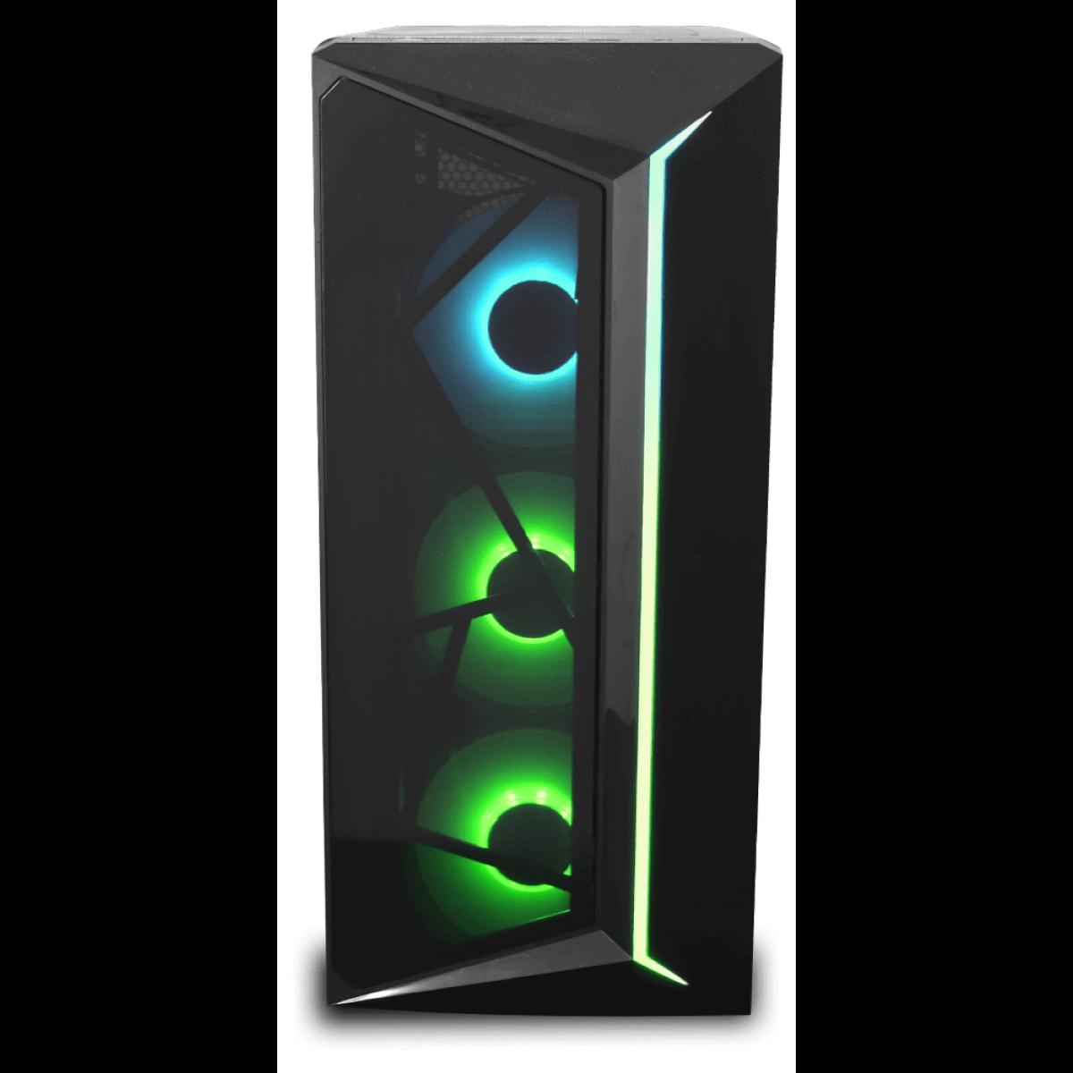 Gabinete Gamer One Power C07 C/ 3 Fans RGB, Vidro Temperado, S/ Fonte