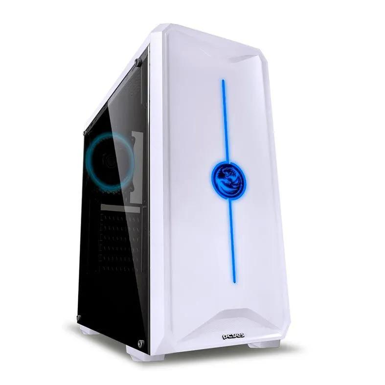 Gabinete Gamer Pcyes Nova Mid Tower 7 Cores C/ 1 Fan Branco NOVBC7C1FCA