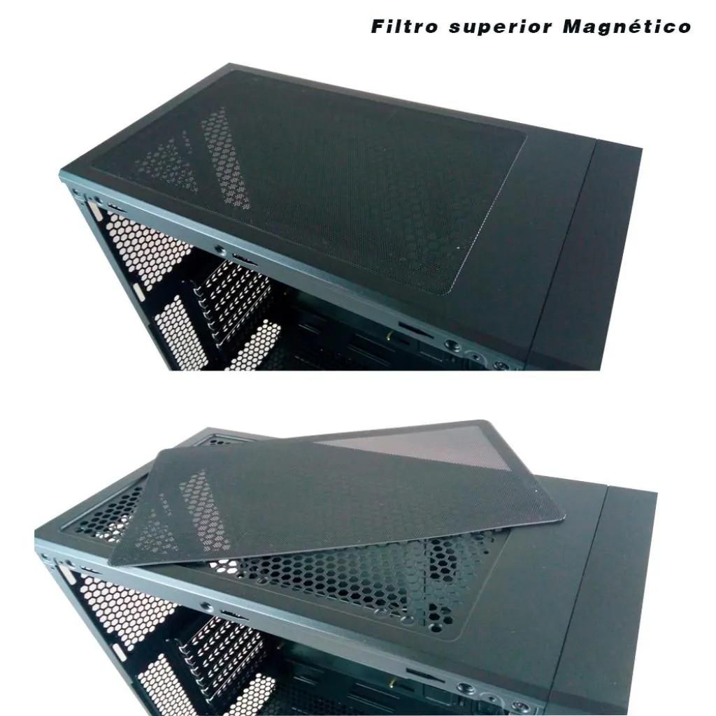 Gabinete Gamer Pixxo CG01 Fita RGB Lateral em Acrílico CG01