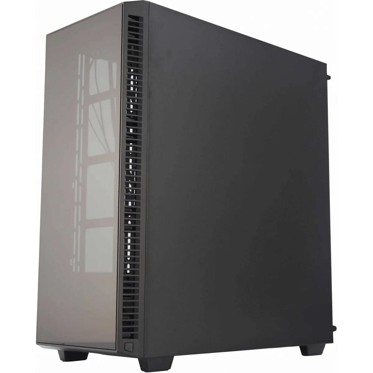 Gabinete Gamer Redragon Grapple Mid Tower S-Fan Vidro Temperado Black GC-607-BK