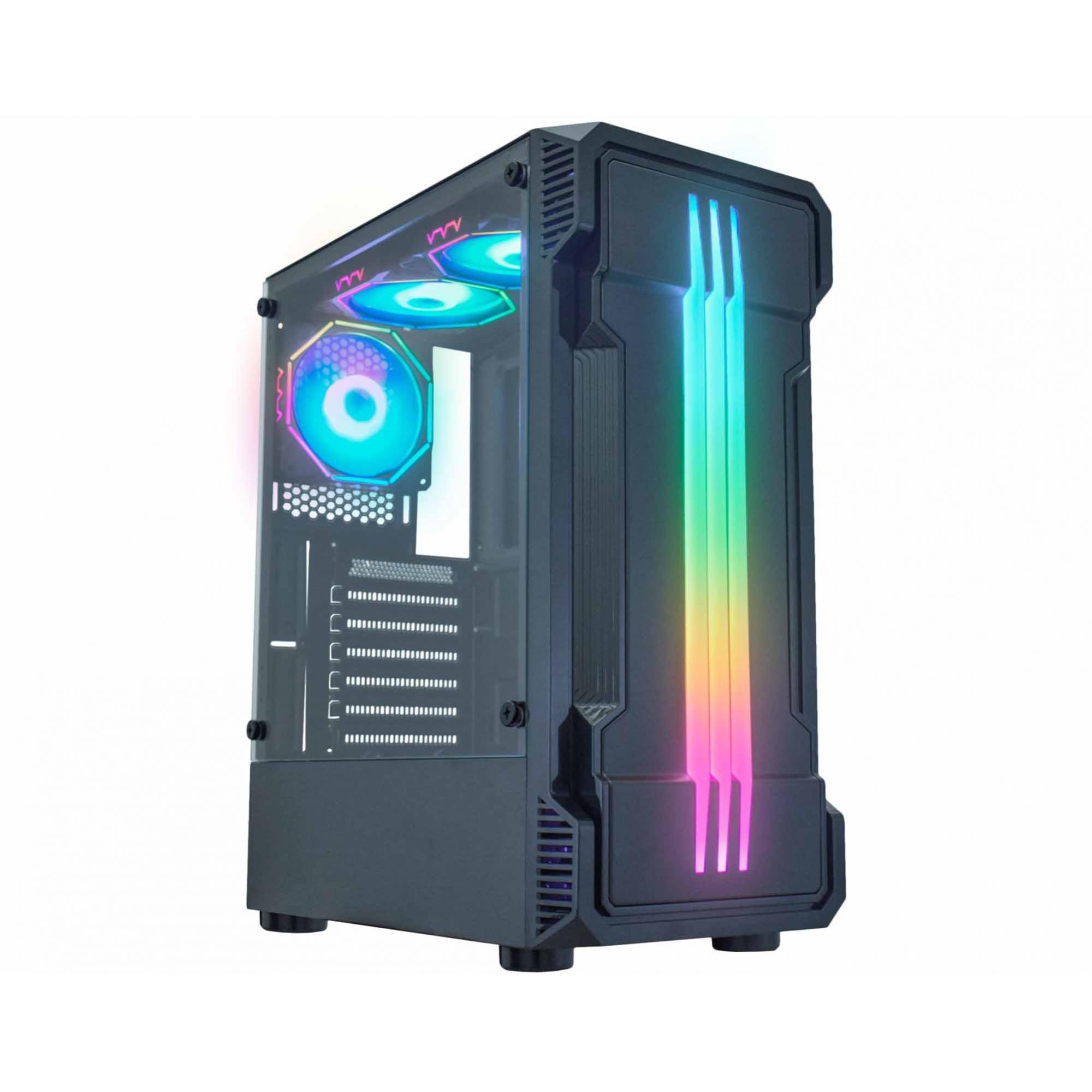 Gabinete Gamer RGB K-MEX CG-01KB Bifrost II Mid Tower