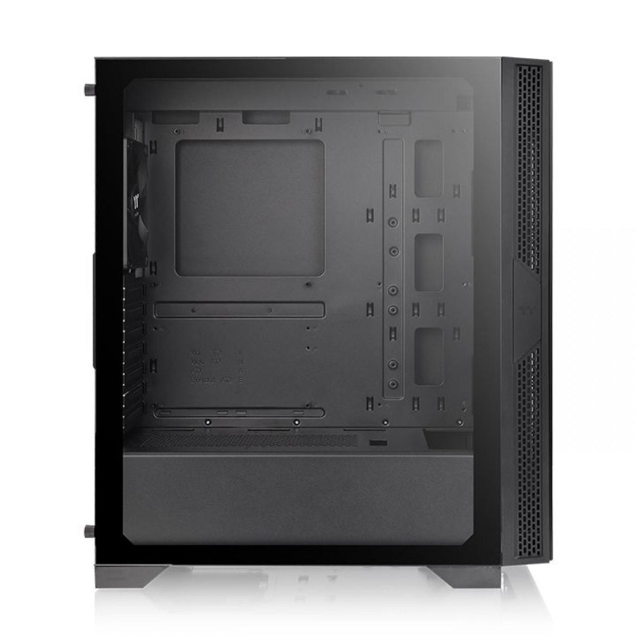 Gabinete Gamer Thermaltake Versa T25 Mid Tower Vidro Temperado Black ATX Sem Fonte Com 1 Fan CA-1R5-00M1WN-00