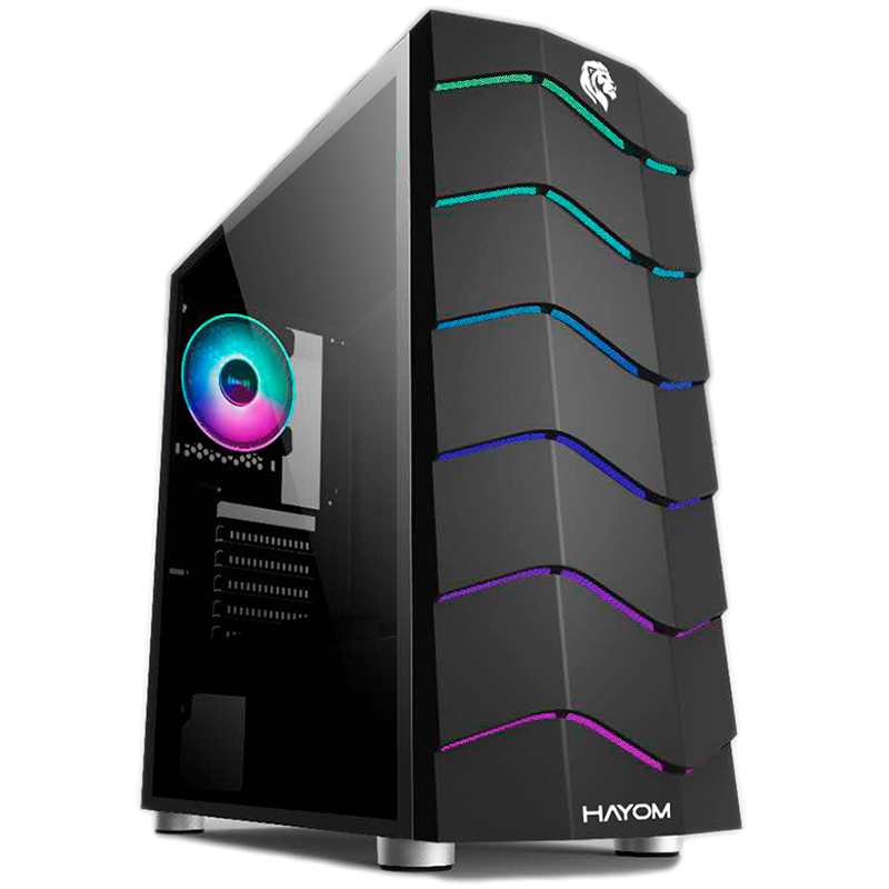 Gabinete Hayom Gamer RGB Com Lateral em Acrílico GB1711