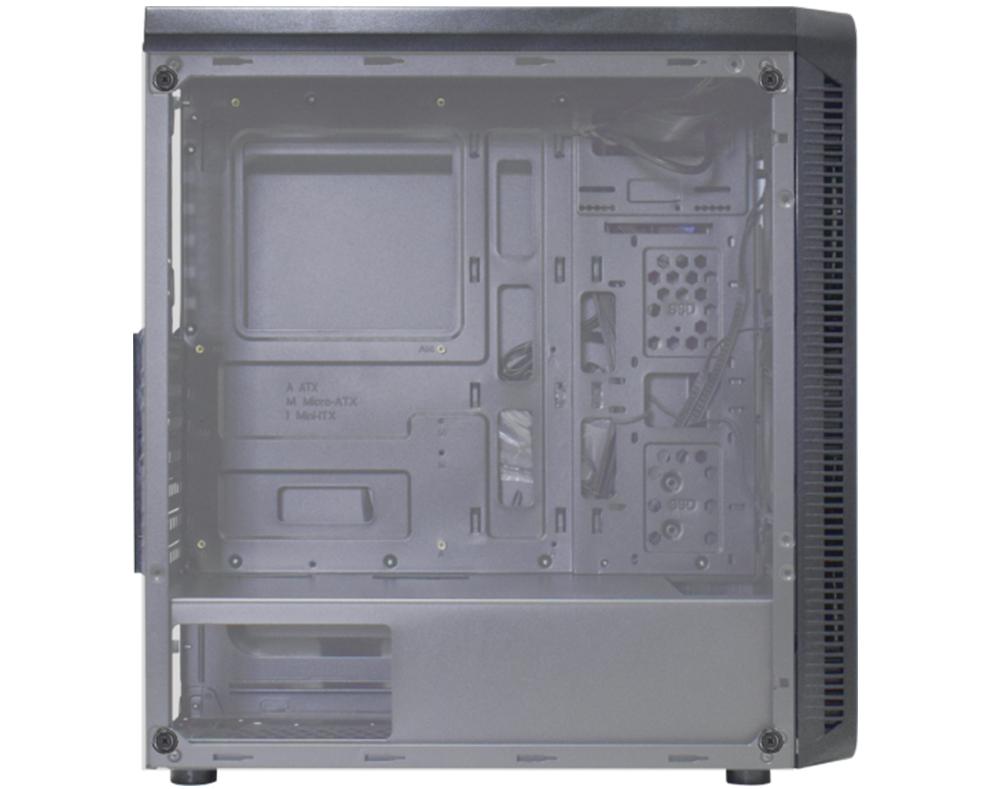 Gabinete K-MEX CG A2G8 Infinity Streamer C/ Coolers Led RGB