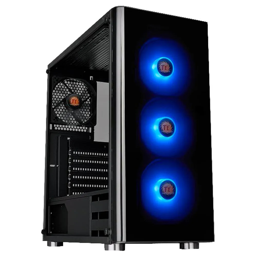 Gabinete Thermaltake V200 TG RGB Lateral Vidro Temp CA-1K8-00M1WN-01