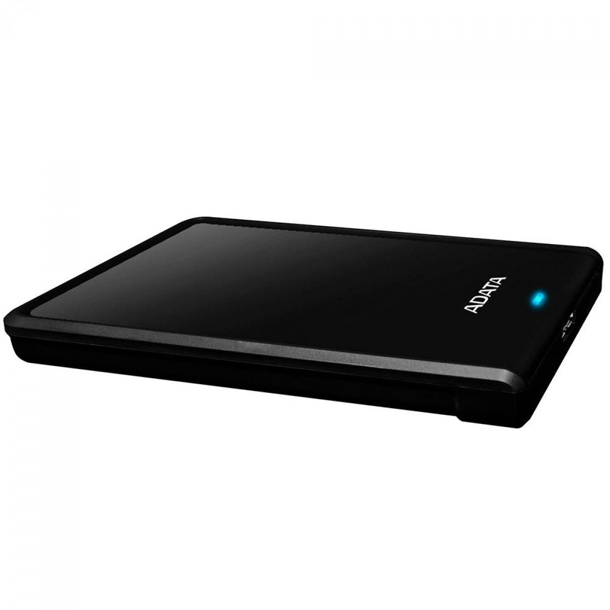 HD Externo Portátil Adata 1TB 2.5 USB 3.0 Preto AHV620S-1TU31-CBK