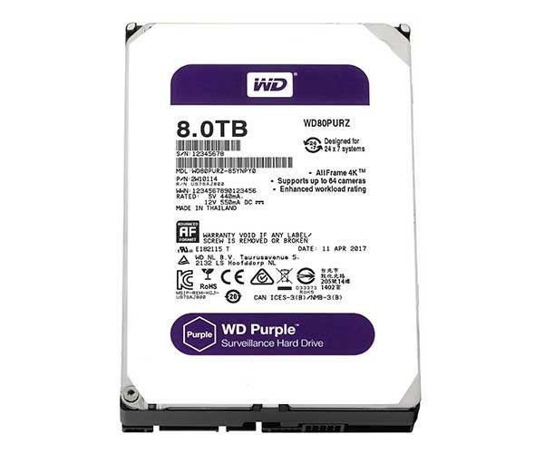 Hd Interno Western Digital Wd Purple Wd84purz 8tb Roxo