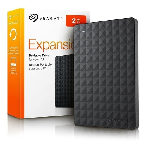 Hd Seagate Externo Portátil Expansion USB 3.0 2TB Preto STEA2000400
