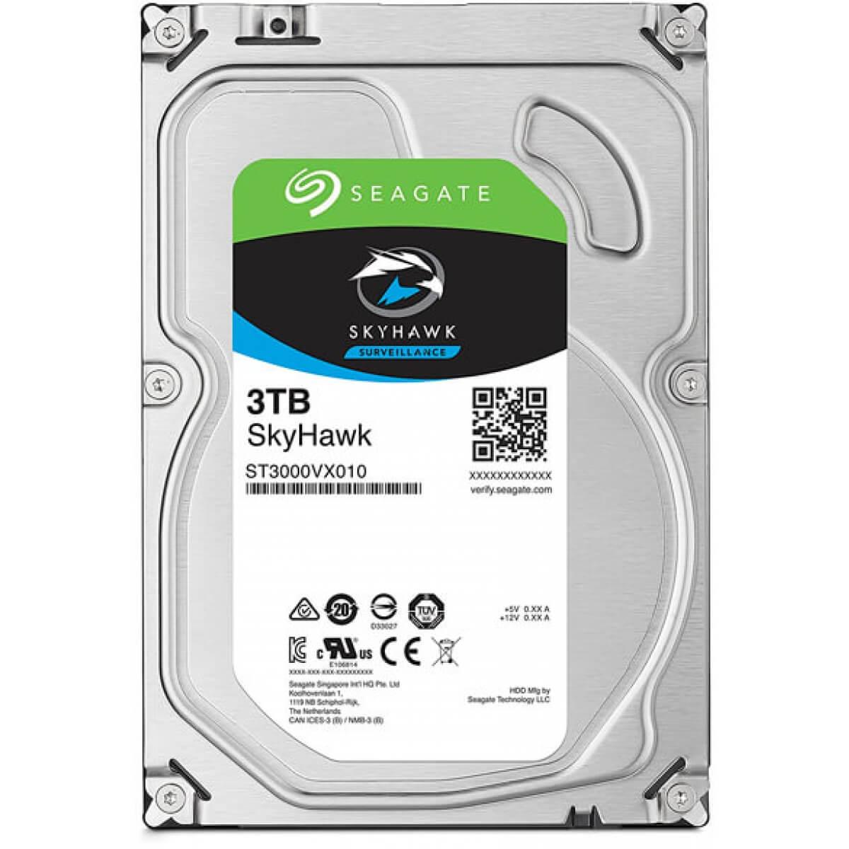 HD Seagate SATA 3,5 Surveillance SKYHAWK 3TB 5900RPM 64MB ST3000VX010