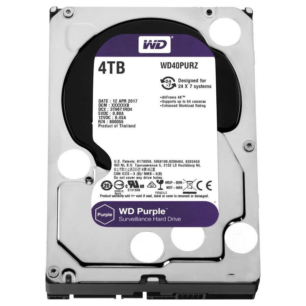 """HD WD Purple Surveillance 4TB 3,5"""" WD40PURZ"""