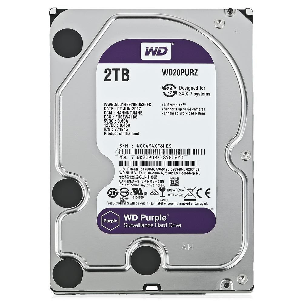 HDD WD Purple 2 TB para Seguranca Vigilancia DVR WD20PURZ