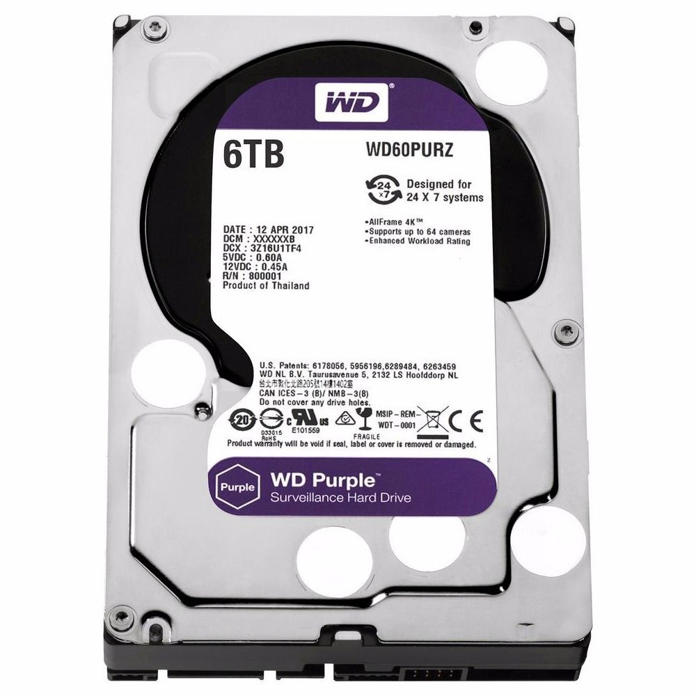 HDD WD *purple* 6 TB Seguranca / Vigilancia / DVR - WD60PURZ