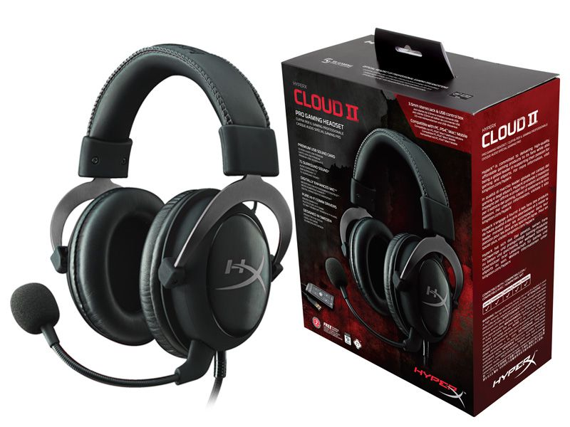 Headset Gamer Cloud II 7.1 HyperX Preto -  KHX-HSCP-GM