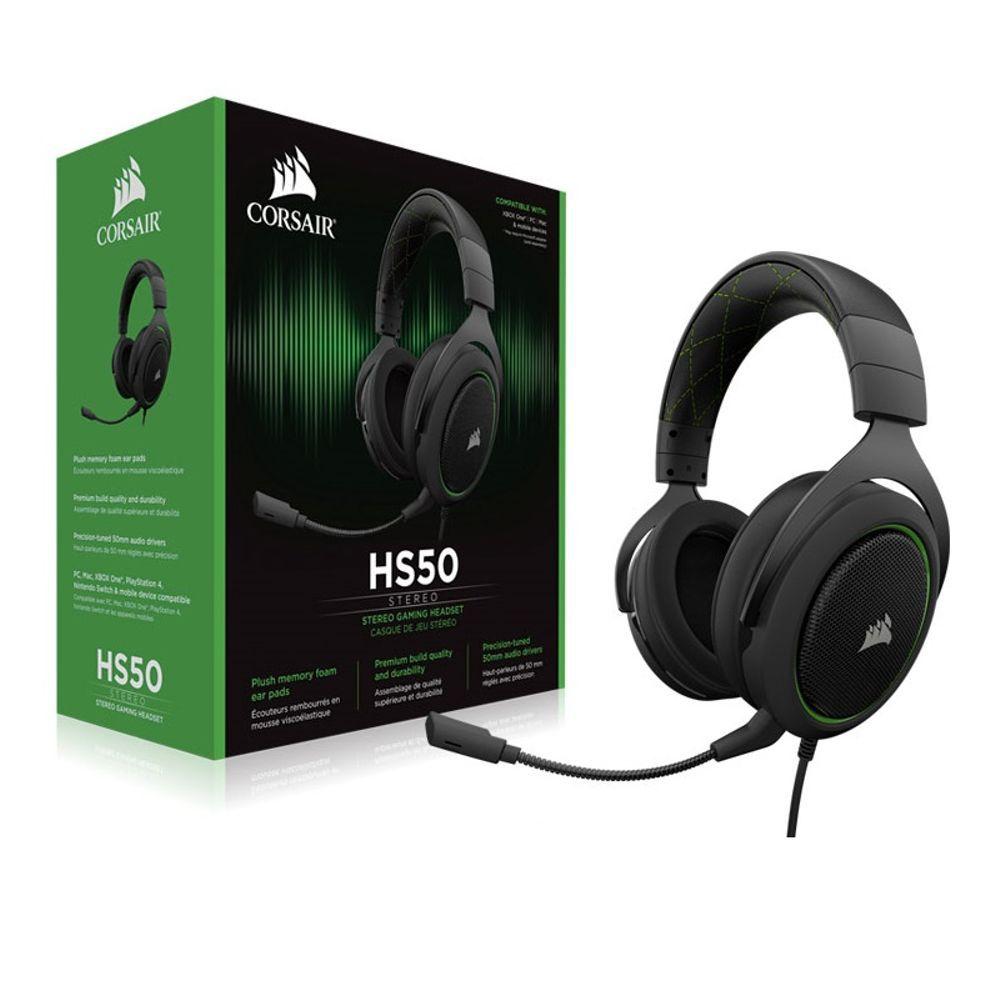 Headset Gamer Corsair HS50 Verde CA-9011171-NA