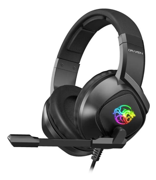 Headset Gamer Draxen Preto com LED RGB - DN102