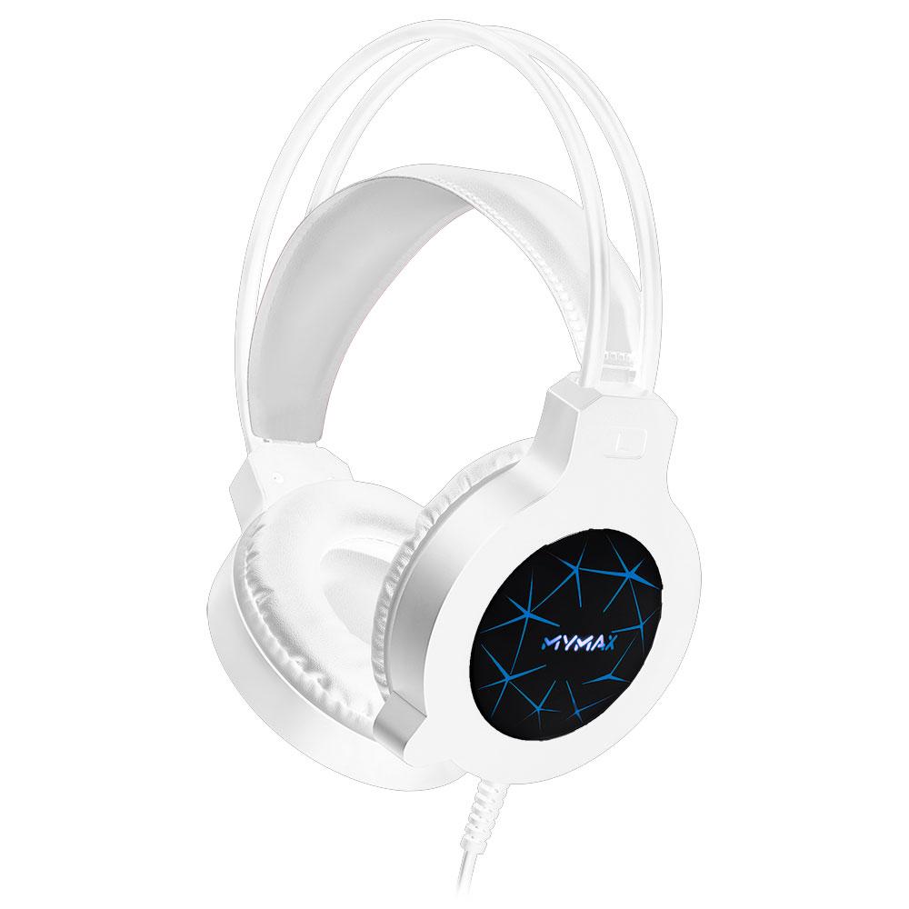 Headset Gamer MyMax Apolo Branco com LED