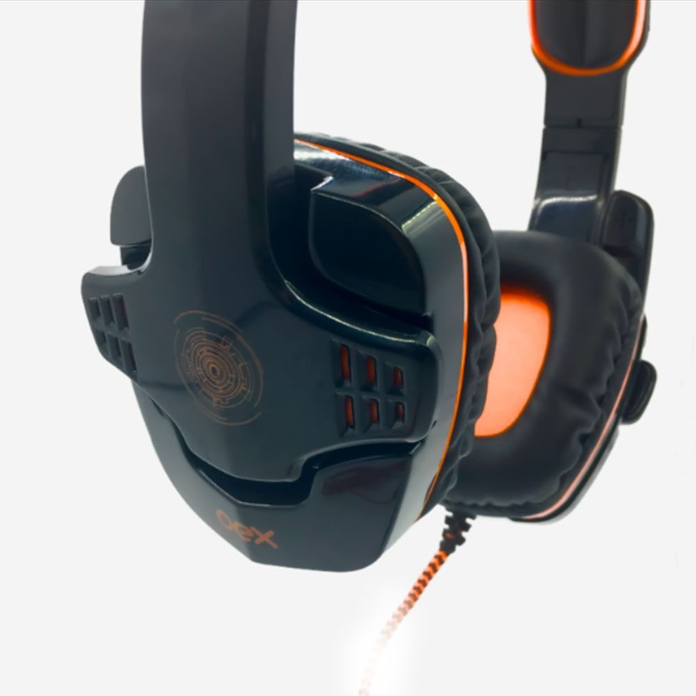 Headset Gamer Oex USB Target HS 203 Preto - Laranja
