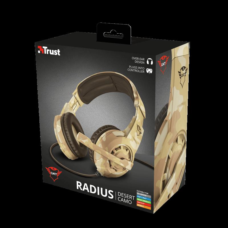 Headset Trust GXT 310D Radius Pc, PS4, Xbox One, Switch Camuflado Desert - 22208