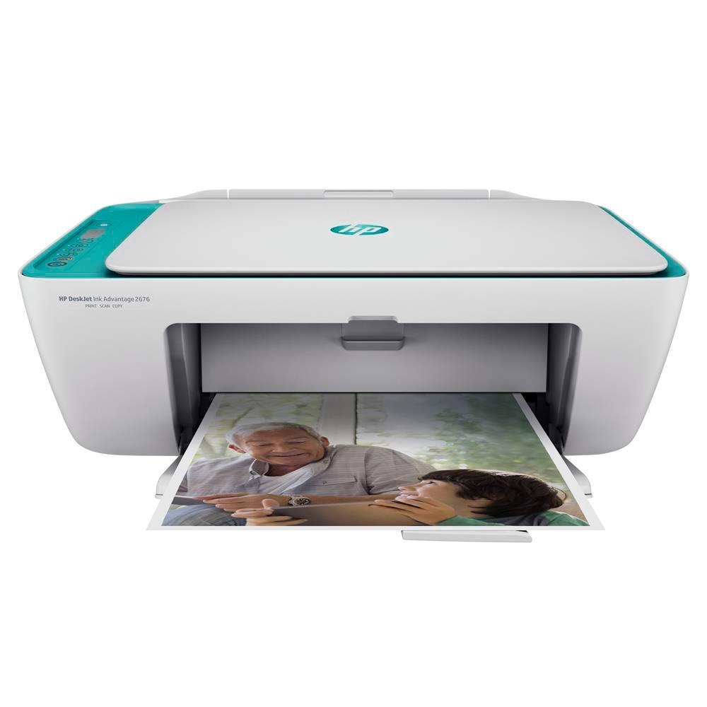 Impressora Multifuncional HP DeskJet Ink Advantage 2676, Jato de Tinta, Colorida, Wi-Fi, Bivolt - Y5Z00A