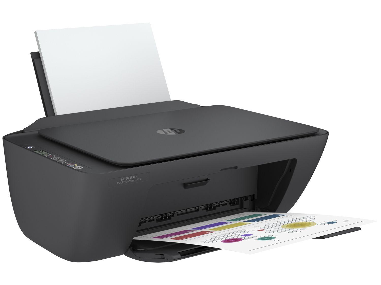 Impressora Multifuncional HP Deskjet Ink Advantage 2774, Colorida, Wi-fi, Conexão USB, Bivolt