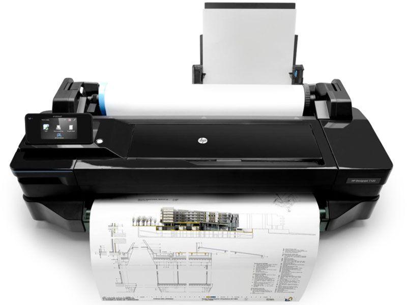 """Impressora Plotter HP Designjet T120 24"""" - CQ891C#B1K"""