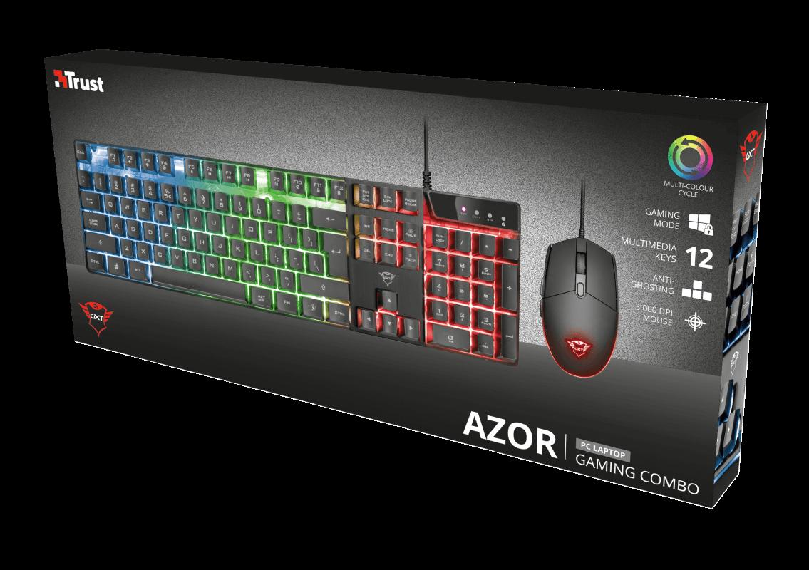 Kit Gamer Mouse e Teclado Trust GXT 838 Azor Led - 23289