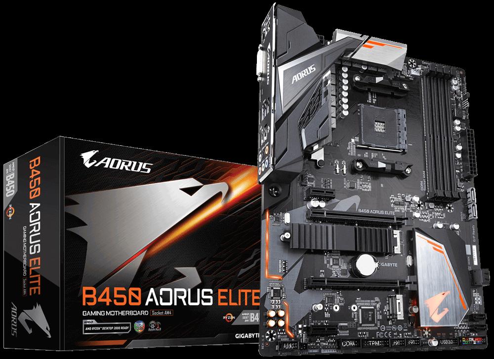 Kit Gamer Placa mãe B450 Aorus Elite + Processador Ryzen 3 2200G