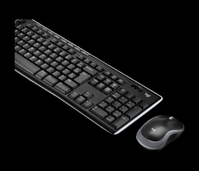 Kit Mouse e Teclado Logitech MK270 Preto