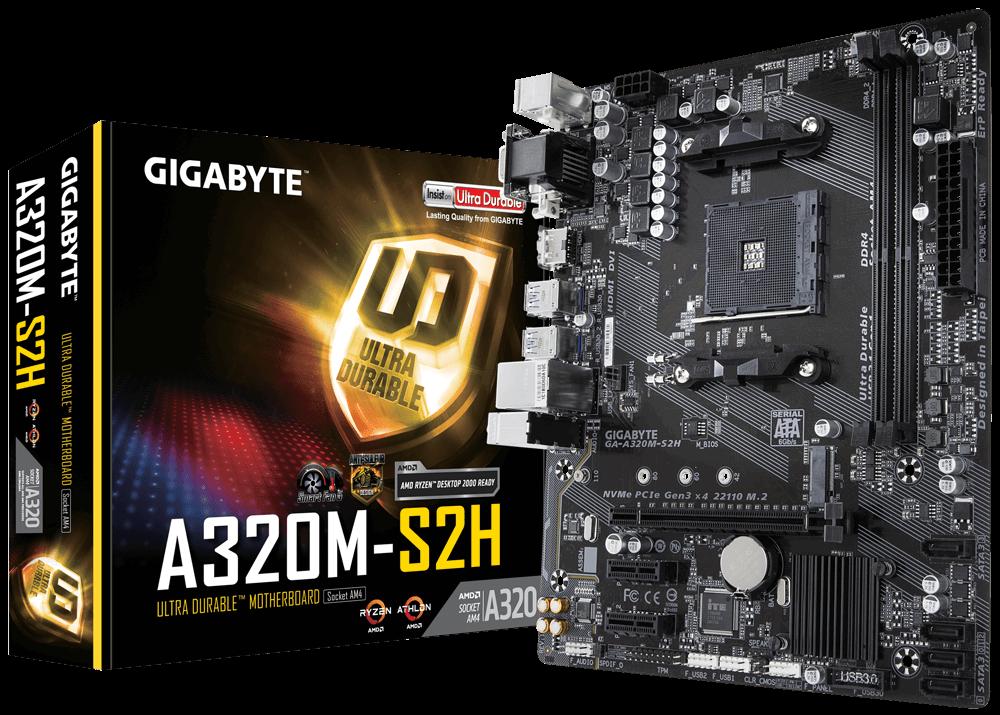 Kit Upgrade, AMD Ryzen 3 2200G, Placa Mãe Gigabyte A320M-S2H