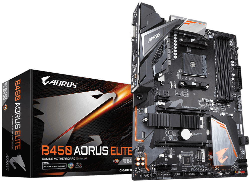 Kit Upgrade Gamer B450 Aorus Elite + Ryzen 5 2600 AM4 + 8GB DDR4