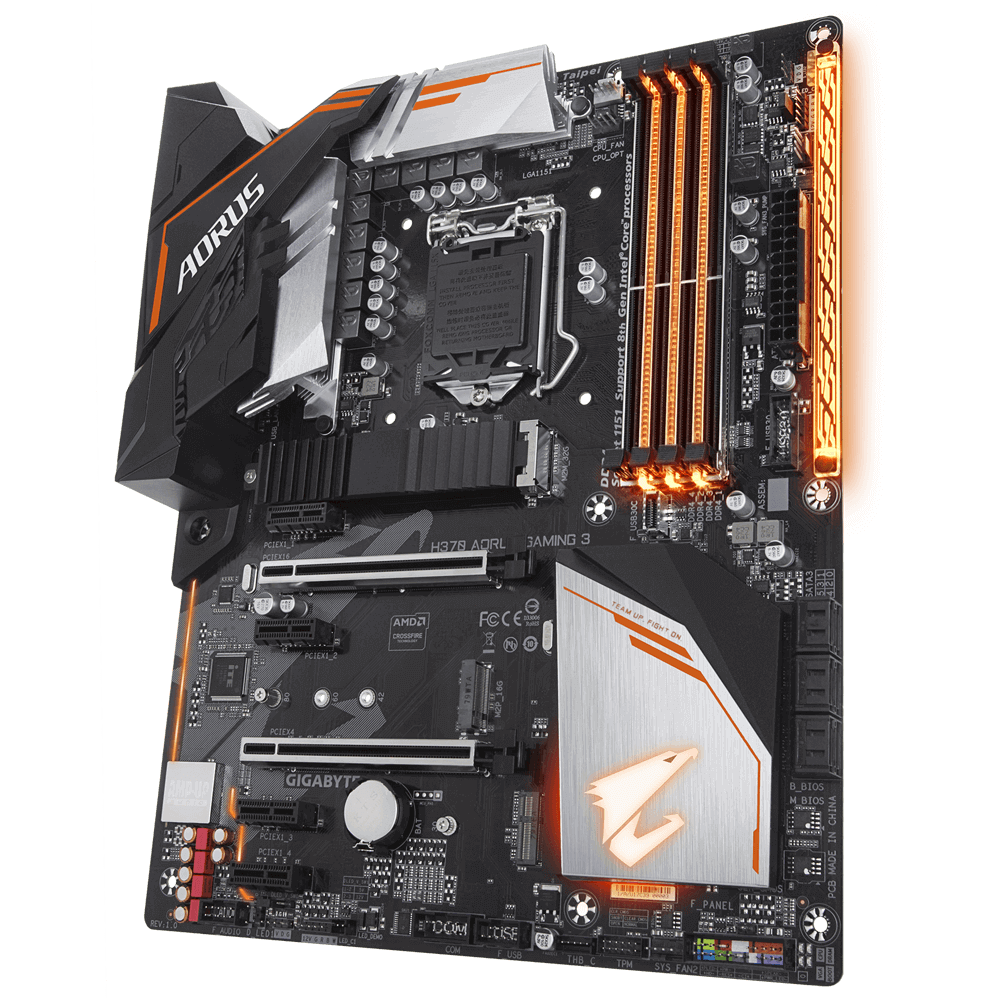 Kit Upgrade Gamer H370 Aorus Gaming 3 + Processador i3 8100 + 8GB DDR4