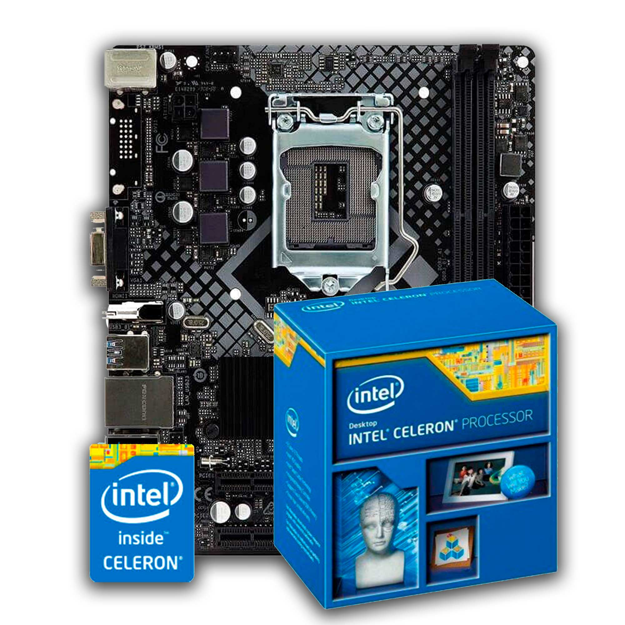 Kit Upgrade Intel Celeron 1820 + Placa mãe H81M HG4